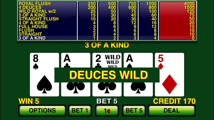 Video Poker ⋆ Deuces Wild screenshot-1