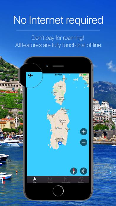 Sardinia, Italy Navigation Screenshot
