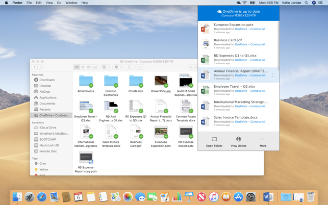 OneDrive on the Mac App Store Screenshots