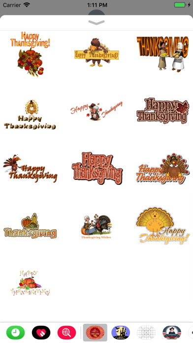 Thanksgiving Day GIF Stickers screenshot three