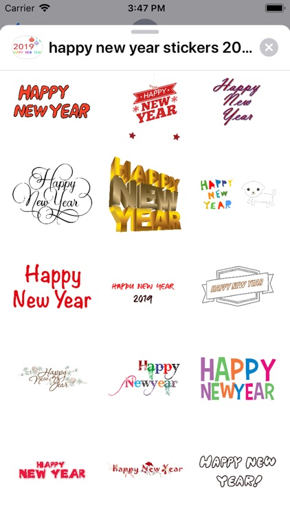 wish New Year stickers 2019 screenshot-4