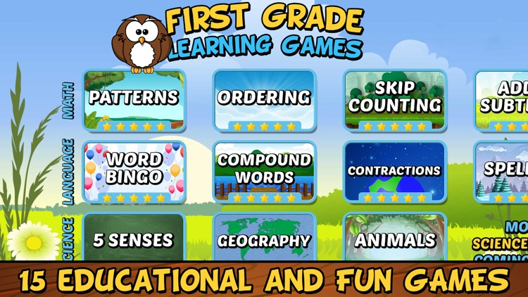 First Grade Learning Games screenshot-0