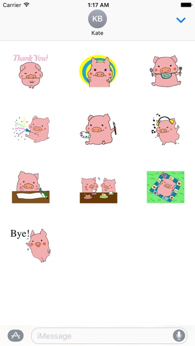 Cute Pink Piglet Sticker screenshot 3