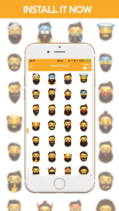 Beard Emoji Stickers screenshot four