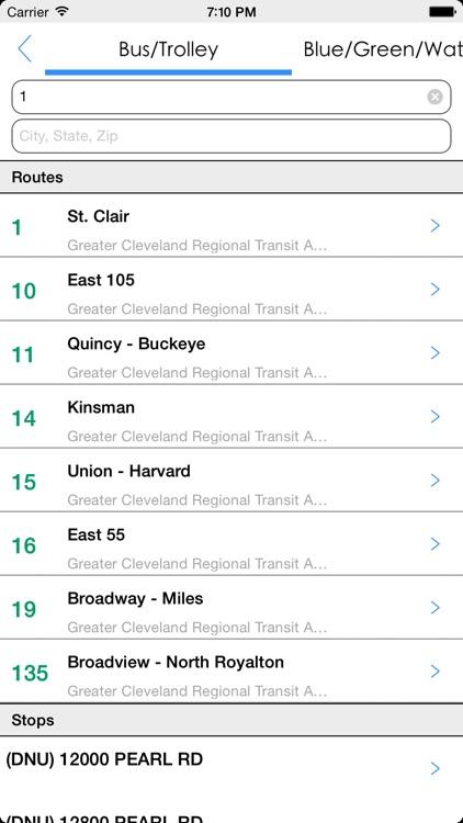 Transit Tracker - Cleveland screenshot-4