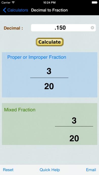 Decimal To Fraction Converter review screenshots