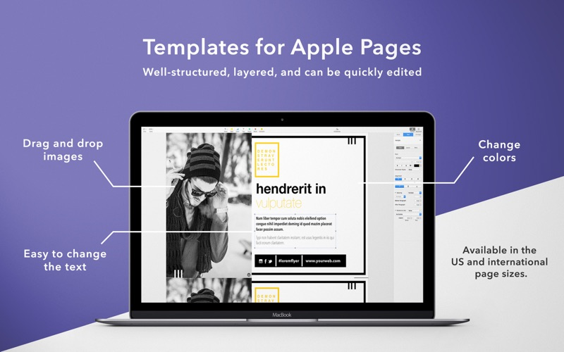 Flyers Templates for Pages Screenshot