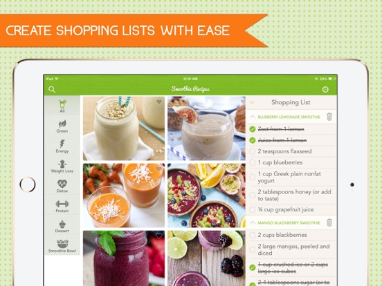 Smoothie Recipes Pro - Get healthy and lose weight with ease screenshot