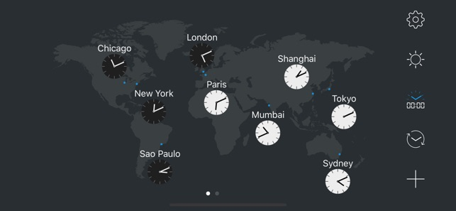 Mapclock world map clock on the app store screenshots gumiabroncs Choice Image