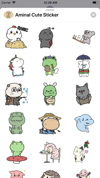 Aminal Cute Sticker screenshot-3