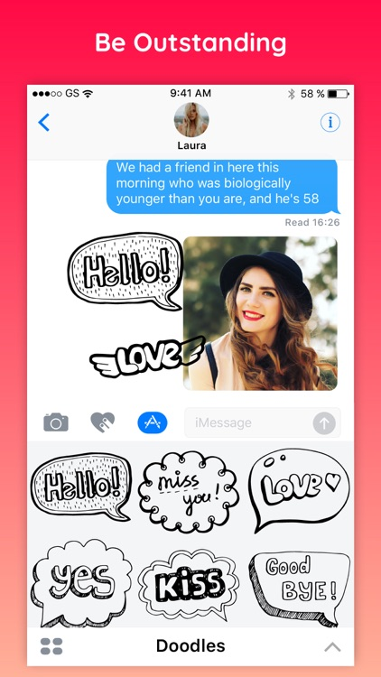 Doodles Text Chat Sticker Pack screenshot-3