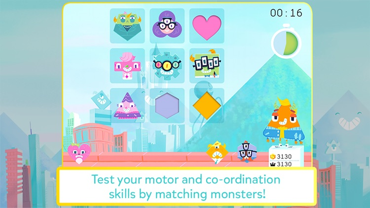 Monster POW! - Fast-paced puzzle game for kids