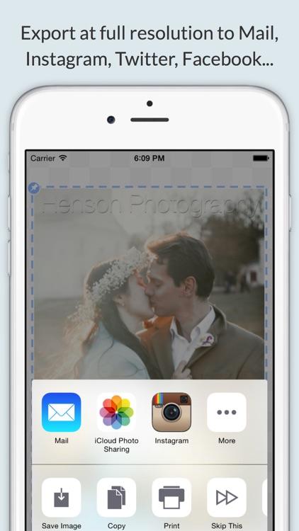 Watermark Photos w iWatermark+ screenshot-4
