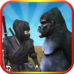 Ape Vs Ninja Assassin Fighting