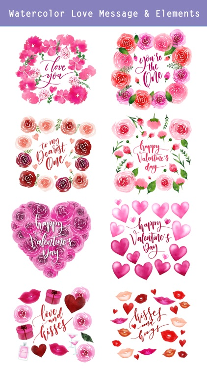 Valentine's Days Watercolor