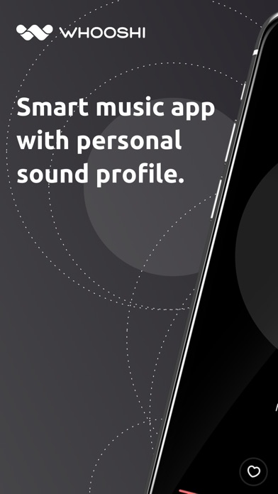 WHOOSHI Personal Audio Player screenshot one