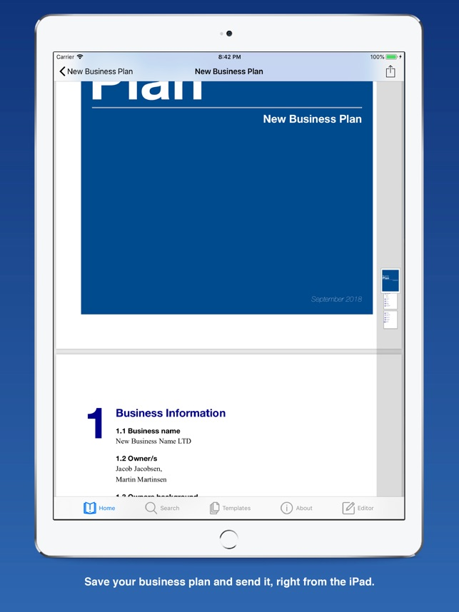 business plan for startups をapp storeで
