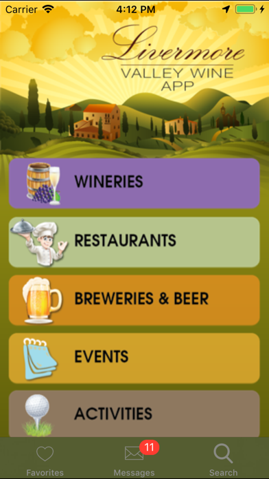Livermore Valley Wineries Screenshot