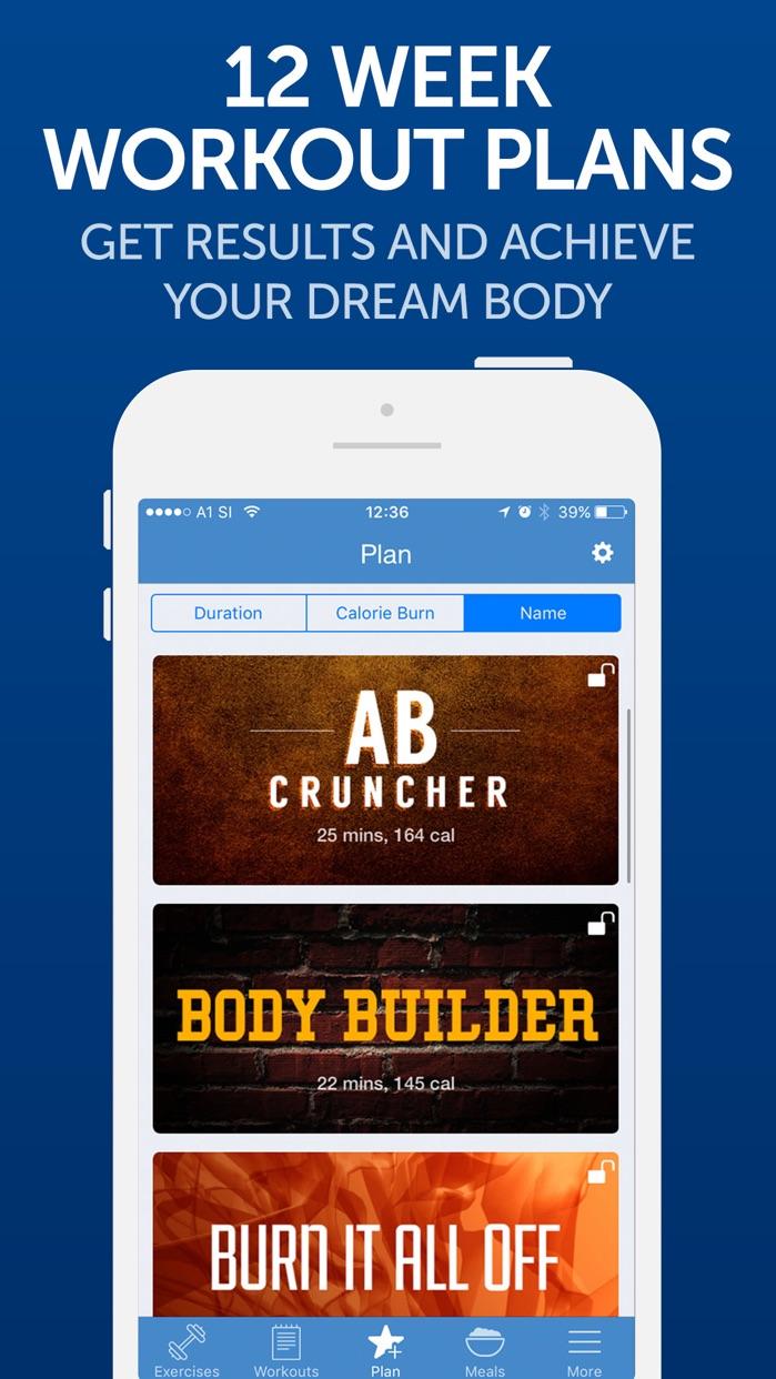 Fitness Buddy: Gym Workouts Screenshot