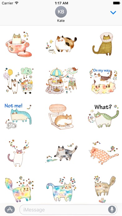 download Colorful Dreams Of Cat Sticker apps 2