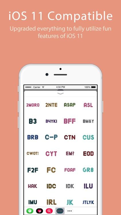 Glitter Text Message Stickers screenshot-3
