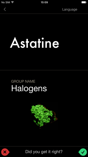 The elements flashcards on the app store urtaz Images
