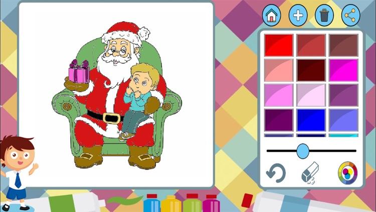 Christmas paint coloring book screenshot-4