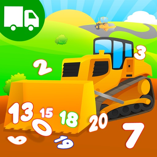 Learn Trucks Diggers Numbers