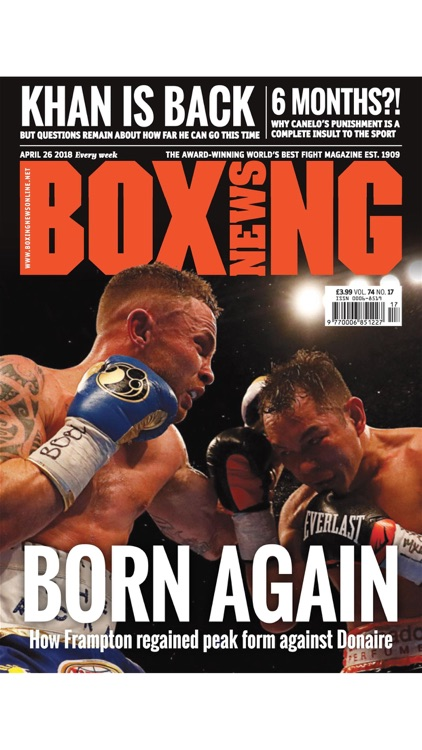Boxing News - The World's Best Fight Magazine – Ringside reports, big-fight previews, exclusive interviews and much more