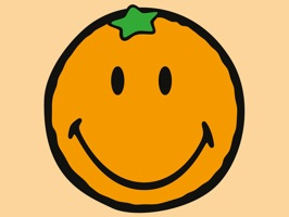 Pack of 32 Smiley Orange stickers from SmileyWorld