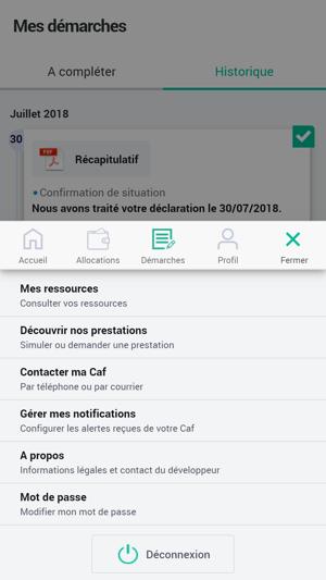 Caf Mon Compte Dans L App Store