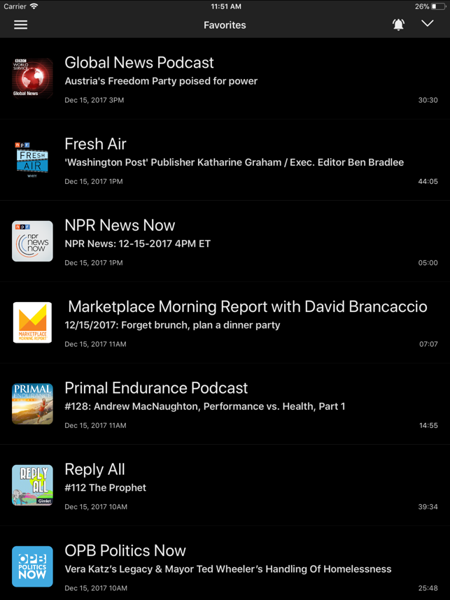 Yapa - Podcast Player Screenshot