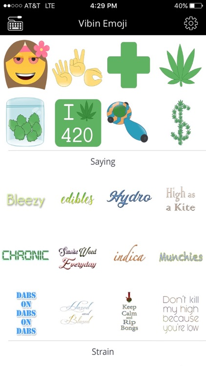 Vibin Weed Emoji Keyboard screenshot-1