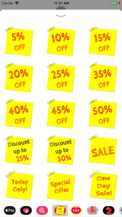 Sticky Note Discount Stickers
