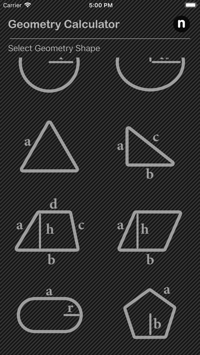 Geometry Calculator Nitrio screenshot two