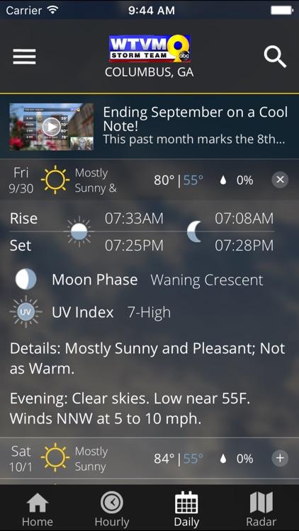 WTVM Storm Team Weather screenshot-4
