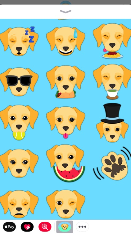 Yellow Labrador Emoji screenshot-3