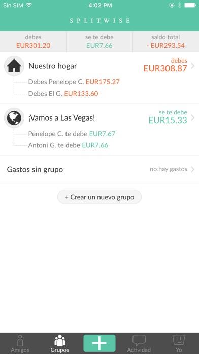 Screenshot for Splitwise in Peru App Store