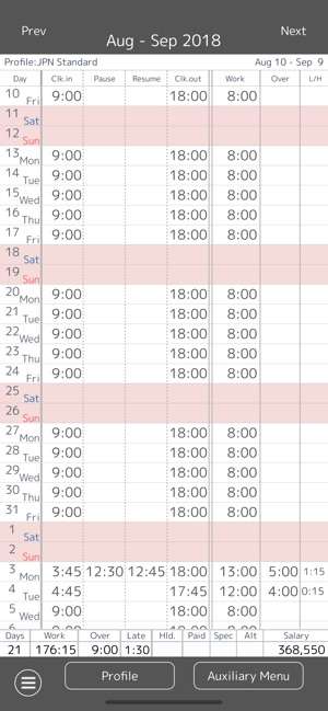 work log time sheet on the app store