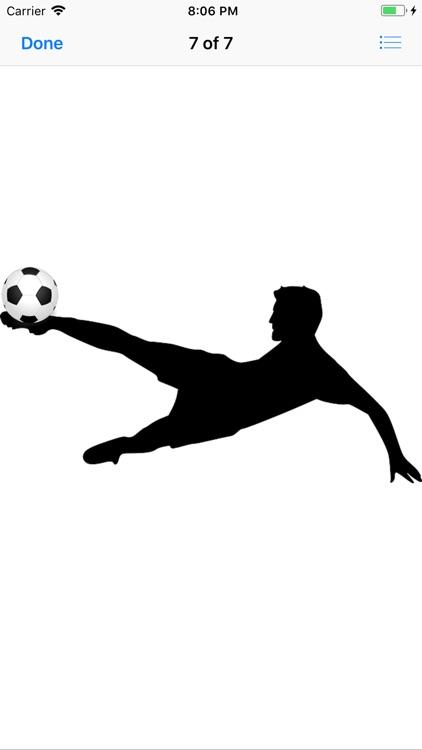 Silhouette Football Stickers screenshot-8