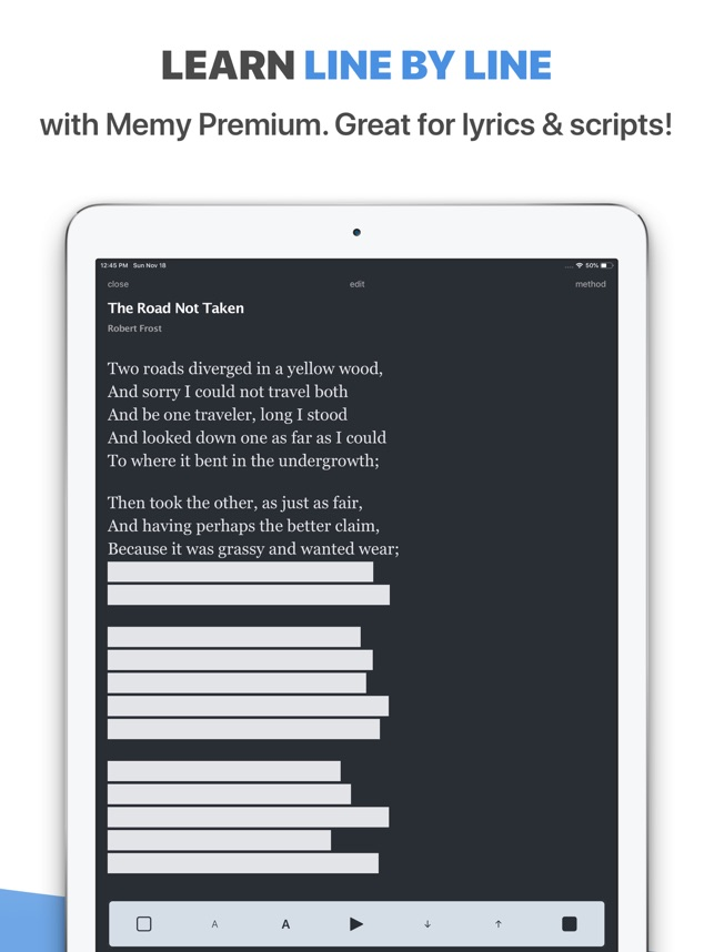 Memy – Memorize texts, lyrics Screenshot