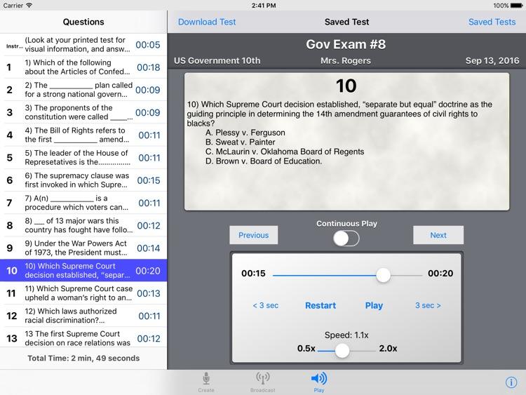 Audio Exam Creator screenshot-3