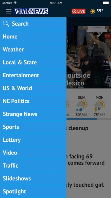 Wral News Mobile review screenshots