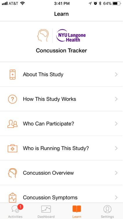 Concussion Tracker