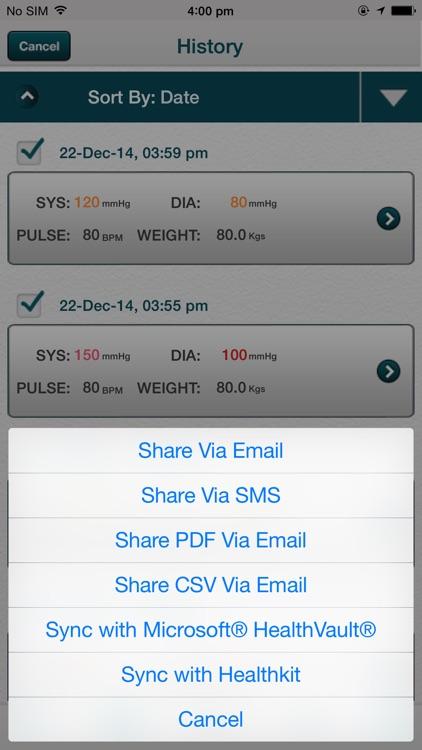 Blood Pressure - SmartBP screenshot-3