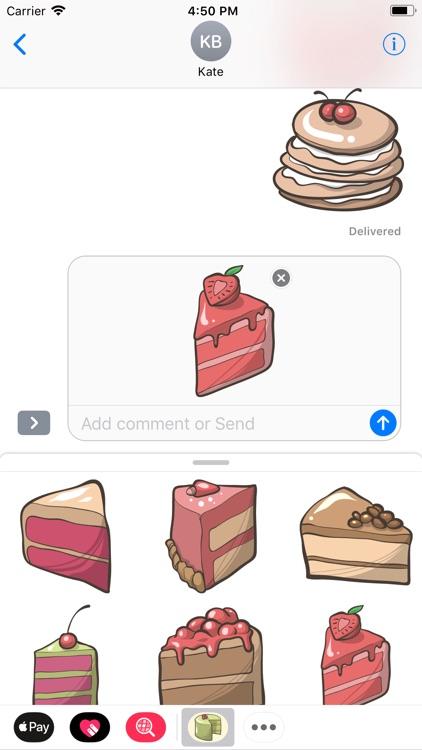 Cartoon Handmade Cake Sticker