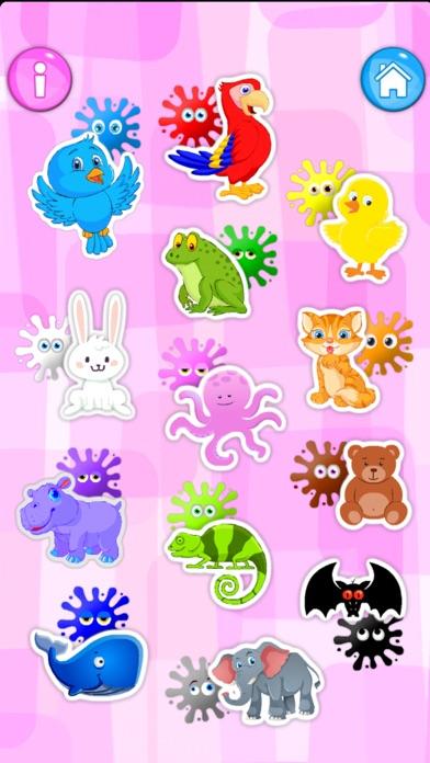 Screenshot of Animals and fun colors App