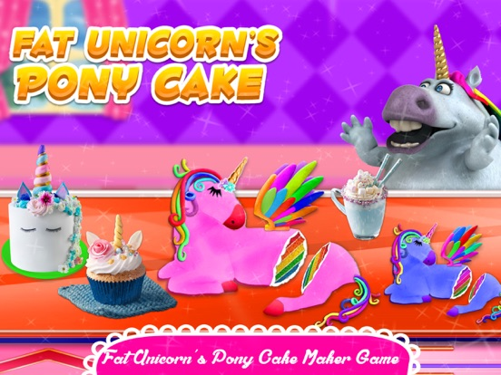 Fat Unicorn Cooking Pony Cake screenshot 5