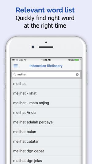 Indonesian dictionary on the app store stopboris Choice Image