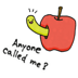 13.Cute Green Caterpillar Sticker